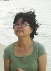 a KC på stranden