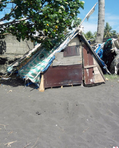 B hus på stranden