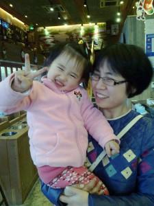K Kathy med dotter